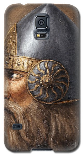 Galaxy S5 Case featuring the painting Knight by Arturas Slapsys