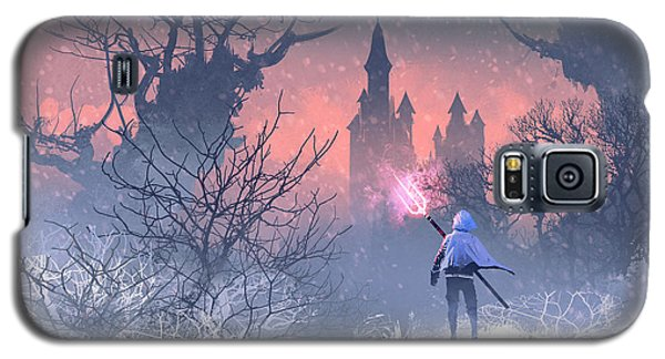 Knight Galaxy S5 Case - Knight With Trident In Winter by Tithi Luadthong