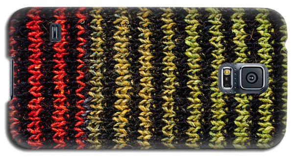Galaxy S5 Case featuring the photograph Knitted Striped Scarf by Les Palenik