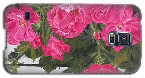 Galaxy S5 Case featuring the painting Knock Out Roses by Wendy Shoults