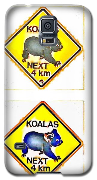 Koalas Road Sign Pop Art Galaxy S5 Case