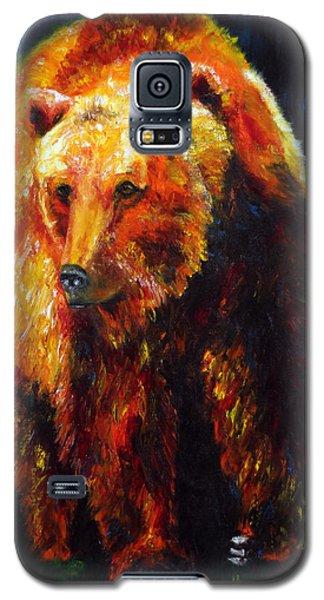Kobuk's Domain Contemporary Bear Painting Galaxy S5 Case by Jennifer Godshalk