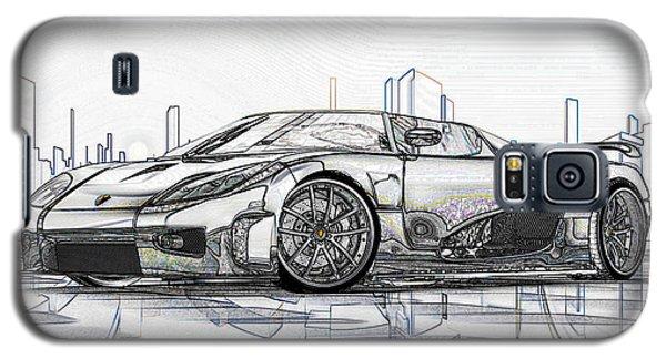 Koenigsegg Ccx Sketch  Galaxy S5 Case