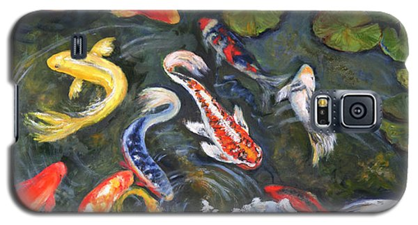 Koi Among The Lily Pads Galaxy S5 Case by Sandra Nardone
