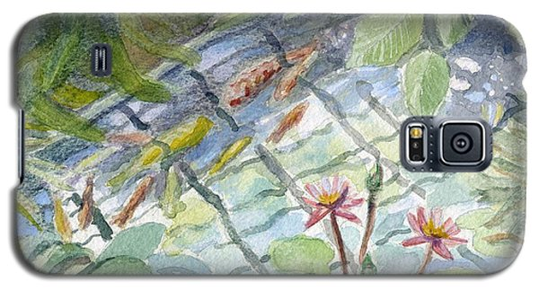 Koi Carp And Waterlilies. Galaxy S5 Case