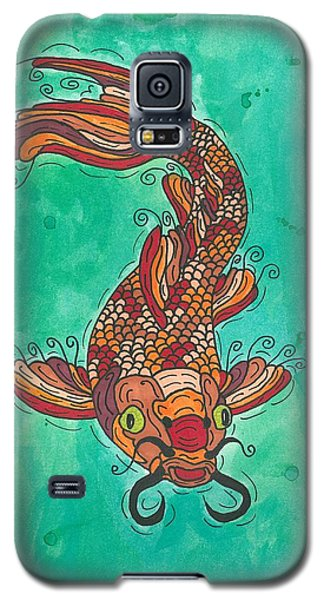 Galaxy S5 Case featuring the painting Koi Fish by Susie Weber
