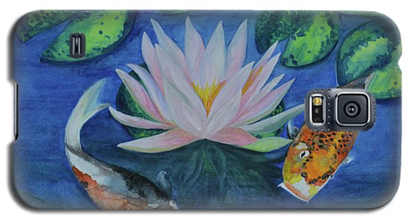Koi In The Lily Pond Galaxy S5 Case by Suzette Kallen