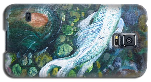 Galaxy S5 Case featuring the painting Koi by Laurianna Taylor