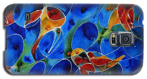 Koi Pond 2 - Liquid Fish Love Art Galaxy S5 Case by Sharon Cummings