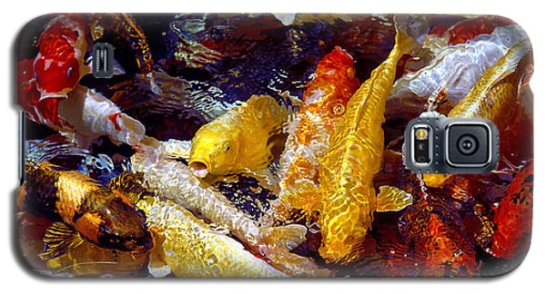 Galaxy S5 Case featuring the photograph Koi Pond by Marie Hicks