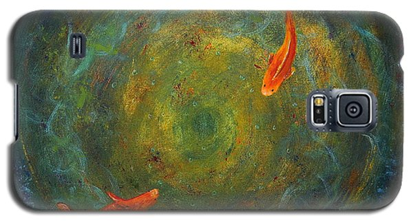 Galaxy S5 Case featuring the painting Koi Whirlpool by Tamyra Crossley