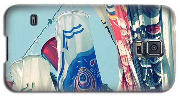 Galaxy S5 Case featuring the photograph Koinobori Flags by Rachel Mirror