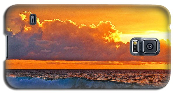 Galaxy S5 Case featuring the photograph Kona Golden Sunset by David Lawson