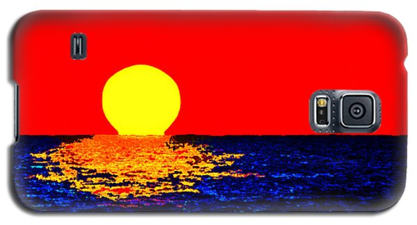 Kona Sunset Pop Art Galaxy S5 Case by David Lawson