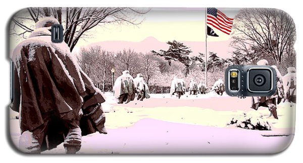 Galaxy S5 Case featuring the mixed media Korean War Memorial by Charles Shoup
