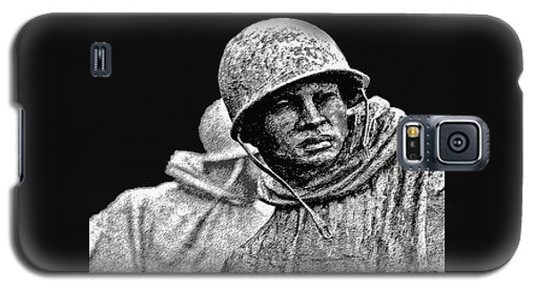 Galaxy S5 Case featuring the painting Korean War Veterans Memorial by Bob and Nadine Johnston
