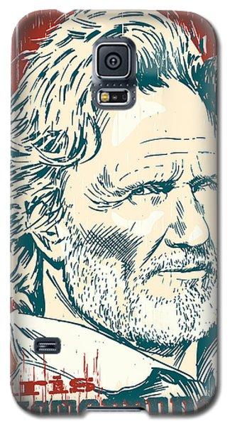 Kris Kristofferson Pop Art Galaxy S5 Case