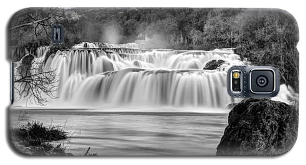 Krka Waterfalls Bw Galaxy S5 Case