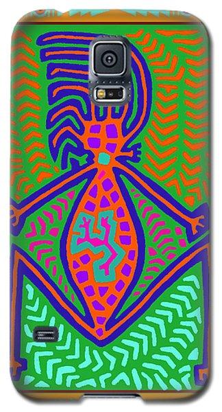 Galaxy S5 Case featuring the digital art Kuna Indian Mother Earth by Vagabond Folk Art - Virginia Vivier