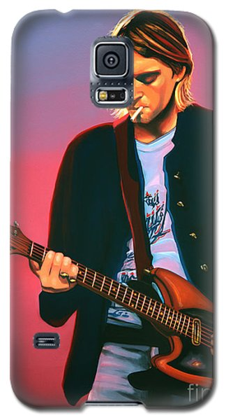 Kurt Cobain In Nirvana Painting Galaxy S5 Case by Paul Meijering