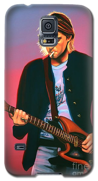 Kurt Cobain In Nirvana Painting Galaxy S5 Case
