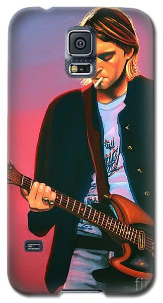 Kurt Cobain In Nirvana Painting Galaxy S5 Case