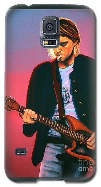 Seattle Galaxy S5 Case - Kurt Cobain In Nirvana Painting by Paul Meijering