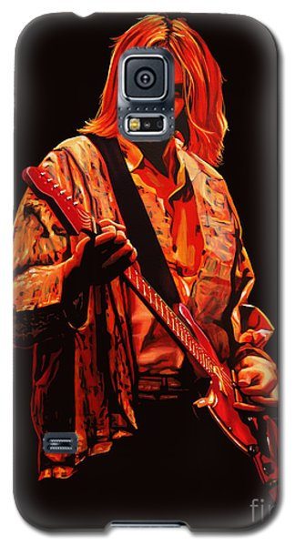Kurt Cobain Painting Galaxy S5 Case by Paul Meijering