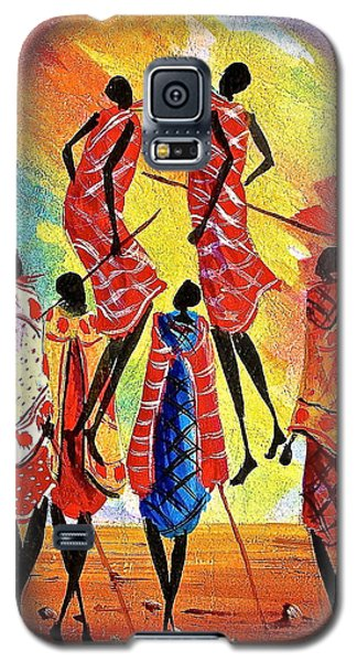 f396e8172 Galaxy S5 Case featuring the painting L 129 by Albert Lizah