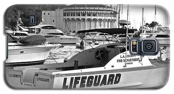 L A County Lifeguard Boat B W Galaxy S5 Case