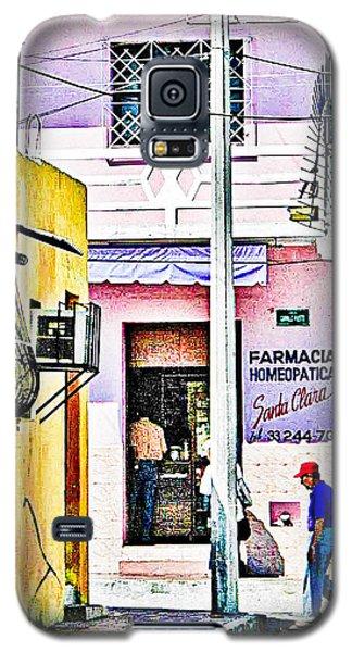 Galaxy S5 Case featuring the photograph La Farmacia by Jim Thompson