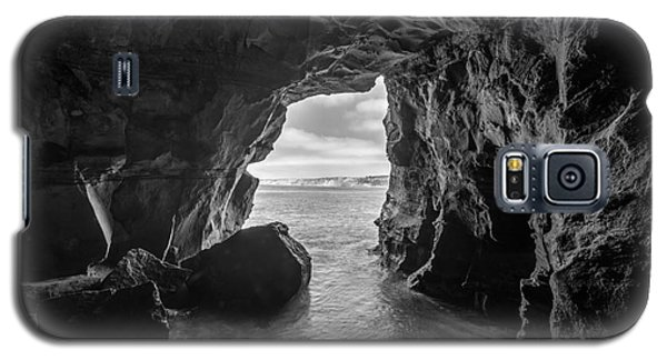 La Jolla Cave Bw Galaxy S5 Case