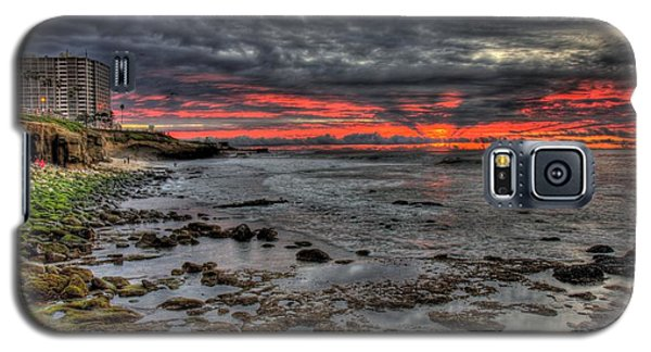 Galaxy S5 Case featuring the photograph La Jolla Cove Sunset by Nathan Rupert