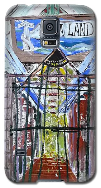 Galaxy S5 Case featuring the painting La La Land  by Leslie Byrne