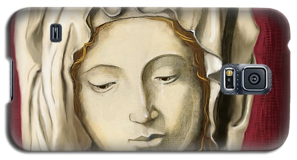 Galaxy S5 Case featuring the painting La Pieta 3 by Terry Webb Harshman