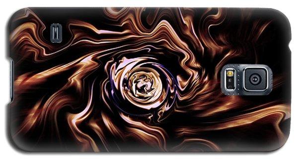 Galaxy S5 Case featuring the digital art La Rose Blanche by Selke Boris