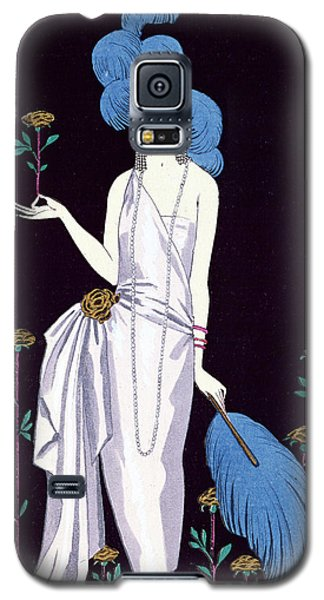 Ostrich Galaxy S5 Case - 'la Roseraie' Fashion Design For An Evening Dress By The House Of Worth by Georges Barbier