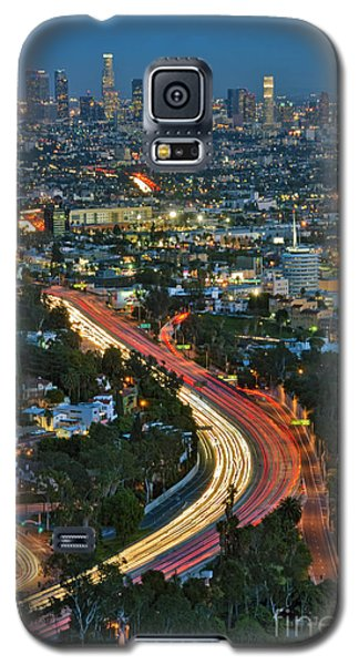 La Skyline Night Magic Hour Dusk Streaking Tail Lights Freeway Galaxy S5 Case