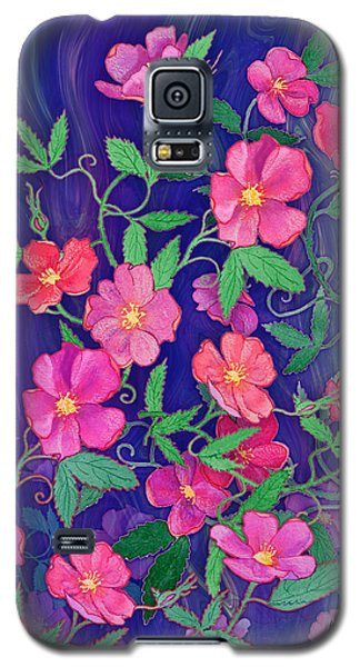 Galaxy S5 Case featuring the mixed media La Vie En Rose by Teresa Ascone