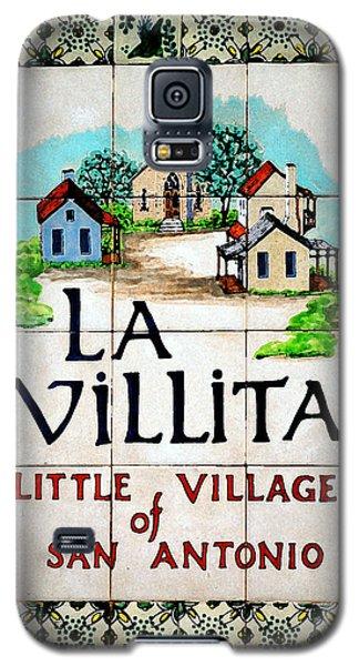 La Villita Tile Sign On The Riverwalk San Antonio Texas Watercolor Digital Art Galaxy S5 Case by Shawn O'Brien