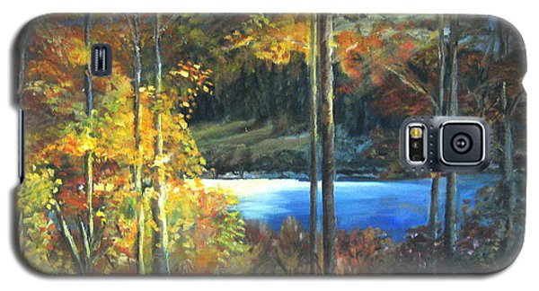 Galaxy S5 Case featuring the painting Lac Fortune Gatineau Park Quebec by LaVonne Hand