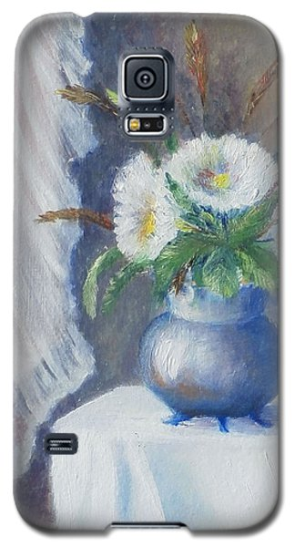 Galaxy S5 Case featuring the painting Lace And Daisey by Luczay