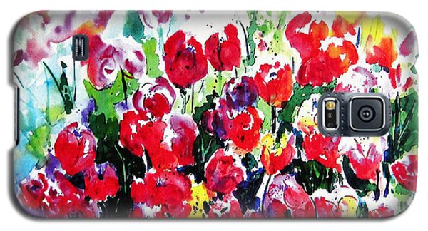 Galaxy S5 Case featuring the painting Laconner Tulips by Marti Green