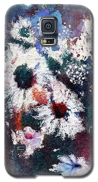 Galaxy S5 Case featuring the painting Lacy Petals by Joan Hartenstein
