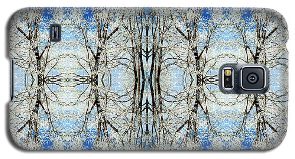 Galaxy S5 Case featuring the photograph Lacy Winter Trees Abstract Art Photo by Marianne Dow