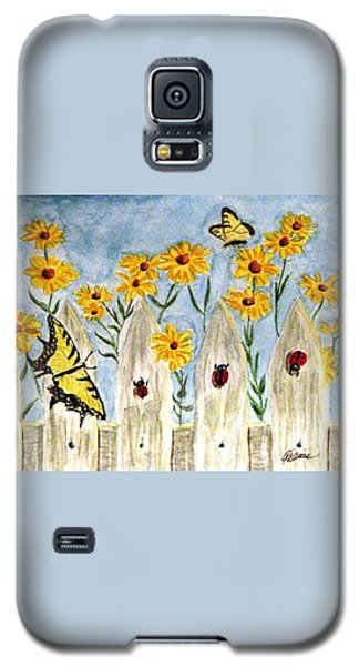 Galaxy S5 Case featuring the painting Ladies In The Garden by Angela Davies
