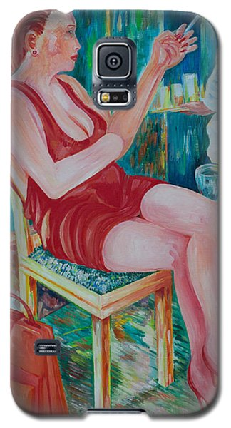 Lady At Lunch Galaxy S5 Case by Giovanni Caputo