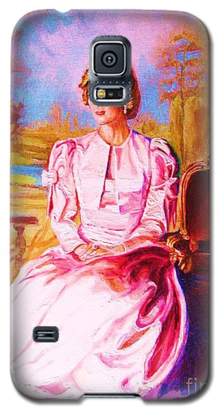 Galaxy S5 Case featuring the painting Lady Diana Our Princess by Carole Spandau