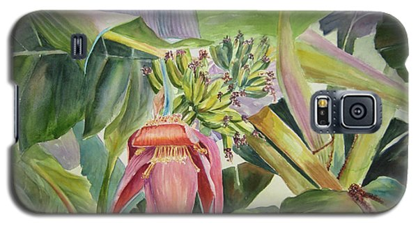 Galaxy S5 Case featuring the painting Lady Fingers - Banana Tree by Roxanne Tobaison