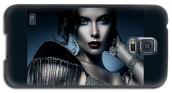 Lady Green Eyes Galaxy S5 Case by Karen Showell